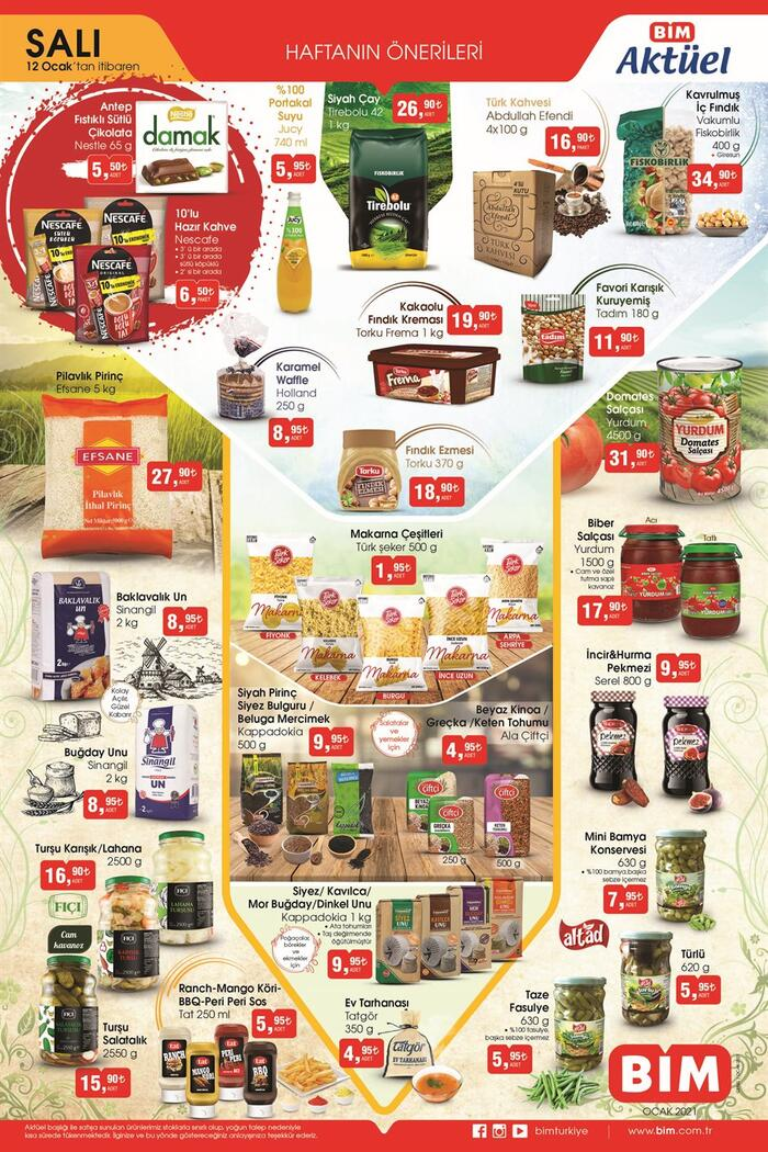 Yarın BİM aktüel kataloğu ürünleri neler? 12 Ocak 2021 Salı BİM kataloğu ürünleri Ekonomi