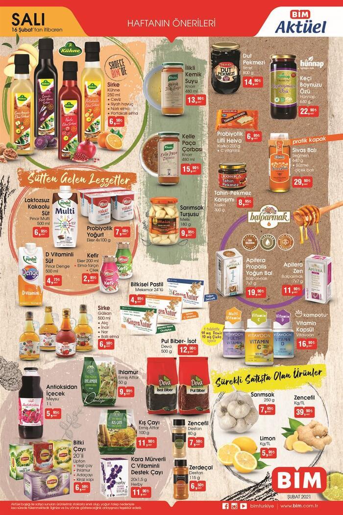 Bugün BİM aktüel kataloğu 16 Şubat 2021 Salı ürünleri neler? BİM kataloğu bu hafta 2 sayfa! Ekonomi