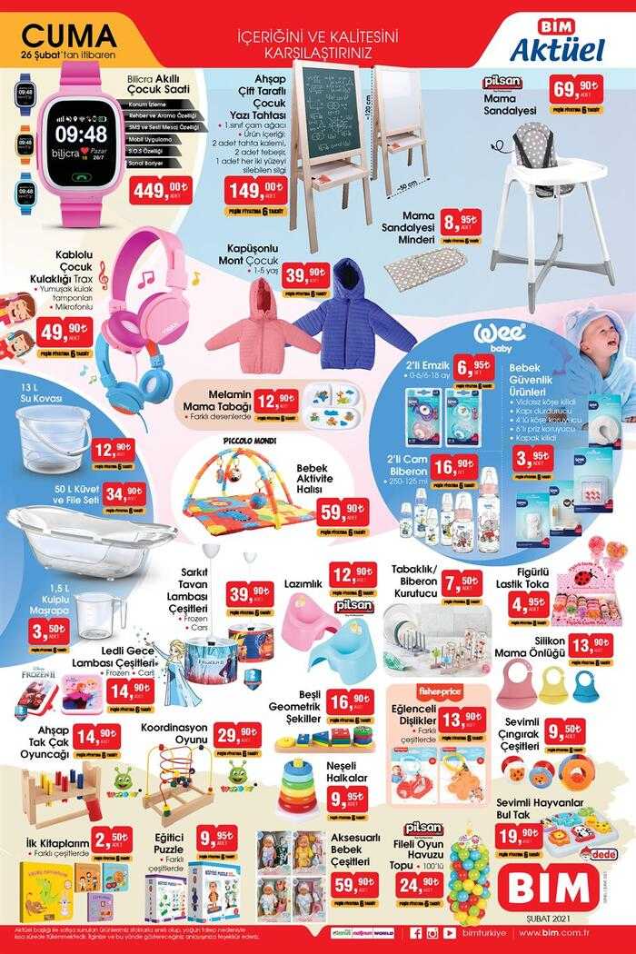 Yarın satışta! BİM aktüel kataloğu ürünleri neler? BİM aktüel 26 Şubat 2021 Cuma kataloğu 3 sayfa! Ekonomi