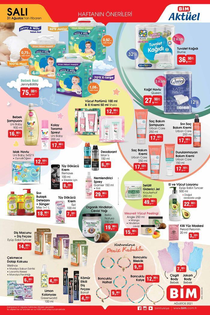 BİM aktüel 31 Ağustos 2021 kataloğu… Bu hafta BİM aktüel ürünler Salı kataloğu 2 sayfa! Ekonomi