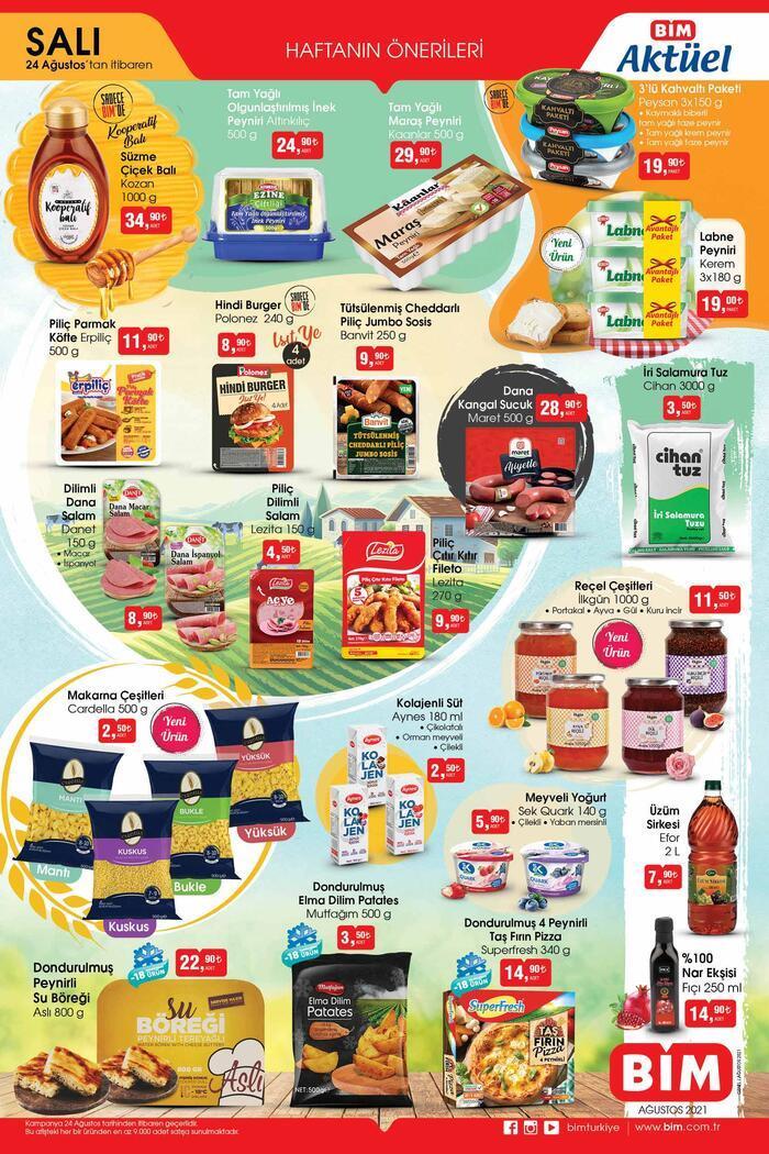 BİM aktüel kataloğu 24 Ağustos 2021 Salı… Bu hafta BİM aktüel ürünler kataloğu 2 sayfa! Ekonomi