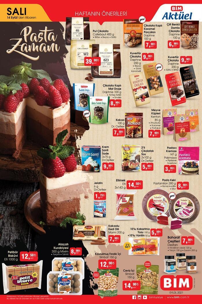 Bugün satışta! BİM aktüel kataloğu 14 Eylül 2021 Salı ürünleri! Bu hafta BİM'de pasta ürünleri olacak Ekonomi